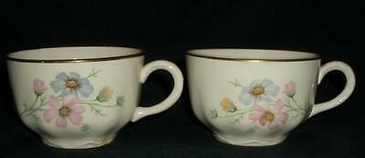 Cosmos PINK BLUE FLOWERS by Homer Laughlin TEA CUP (s)