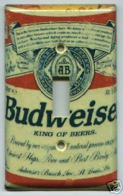 Budweiser Bottle Light Switch Plate Cover Bud Light