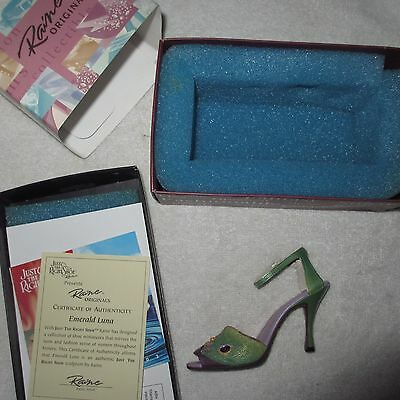 JUST THE RIGHT SHOE Emerald Luna Signed by Raine 25185H Collectible Retired