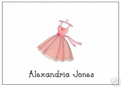 Pretty Dress Note Cards Personalized Many designs Cute!