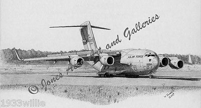 C-17A McGuire AFB Giclee /& Iris Open End Edition Print by Artist Willie Jones Jr