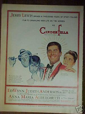 1960 CinderFella Movie Jerry Lewis (Norman Rockwell) Art Print Ad