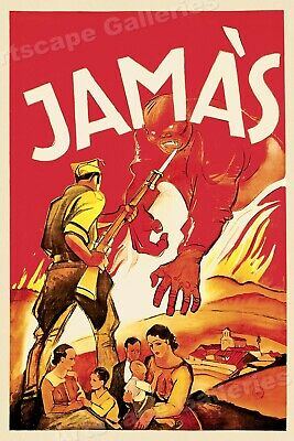 """Never!""  1930s Spanish Civil War Poster - 24x36"