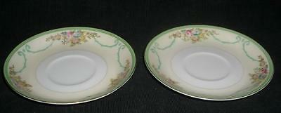 """Meito Hand Painted Plate Japan 5 3/4"""" SAUCERS"""