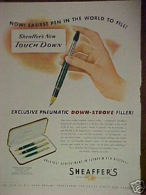 1949 Sheaffer's Pen,Pencil,Statowriter Set print ad