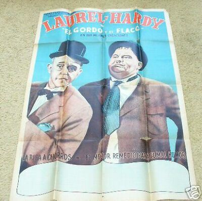 LAUREL & HARDY 1930's Argentina Poster 29x43