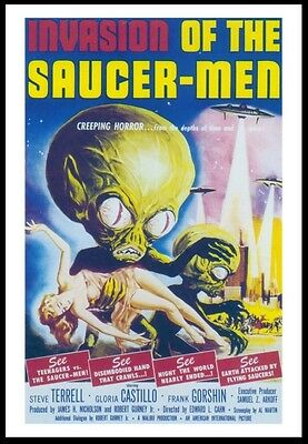 Classic Movie Poster Invasion of The Saucer-Men