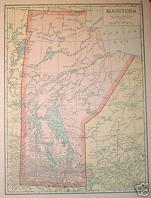 1923 Manitoba Color Map**   Ontario map on back