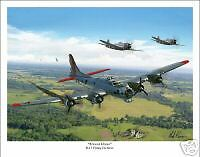 B-17 Flying Fortress 8th Air Force  Aviation Art Print