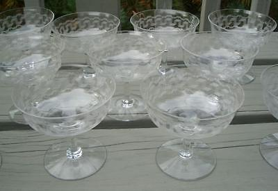 GREEK 45 FOSTORIA CRYSTAL GLASS GOBLET SHERBET BOWLS