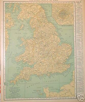 1926 England and Wales Color Map*  w/ Populations