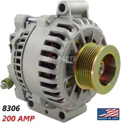 200 AMP 8306 Alternator Ford Excursion E-Series F-Series 6.0 NEW High Output HD