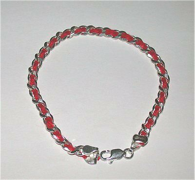 20 pcs Kabbalah Red String Sterling Silver Bracelets