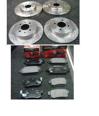 Rover Mg Zr160 Zs180 Brake Disc Drilled Grooved Mintex Brake Pad Front Rear