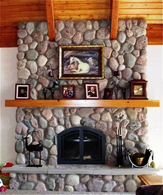 60 CONCRETE RIVER ROCK STONE MOLDS TO MAKE 1000s OF FIREPLACE WALL VENEER STONES
