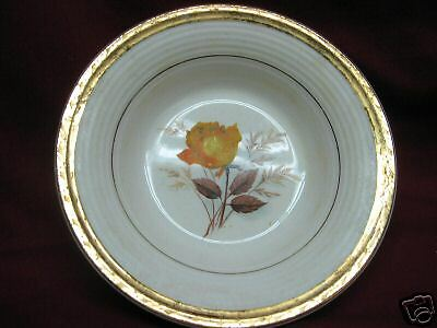 American Limoges Vermillion Rose small bowl