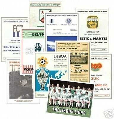 Celtic 1967 European Cup Programme Trading Card Set