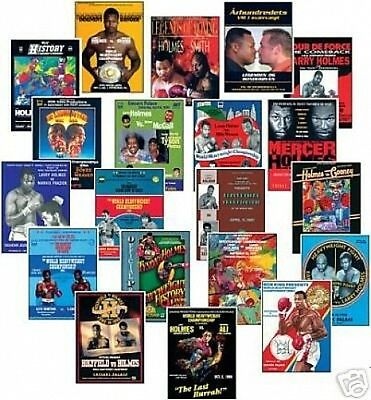 Larry Holmes Boxing Program Cover Trading Card Set