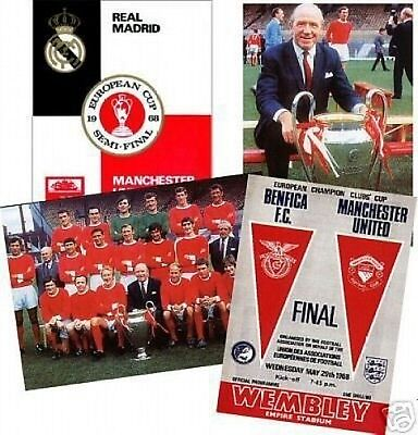 Manchester United 1968 European Cup postcard Set