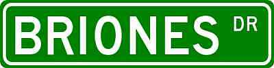 BRIONES Street Sign - Personalized Last Name Sign