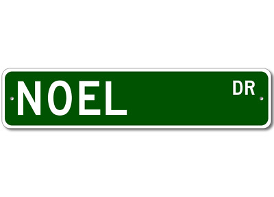 NOEL Street Sign - Personalized Last Name Sign