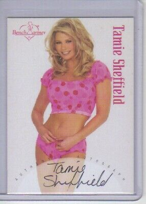 2002 Benchwarmers Tamie Sheffield  Autograph