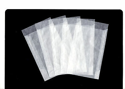 50 x ACID FREE GLASSINE ENVELOPES-125mm x 230 +20mm flap PRESENTATION PACK SIZE