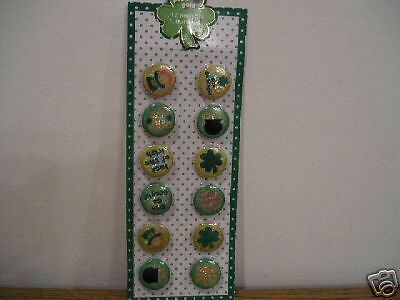 St. Patrick's Patrick metallic buttons 12 - SEALED