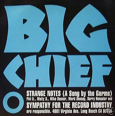 "Big Chief - Strange Notes 45"" blue vinyl"