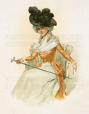 French Victorian fashion woman Art Nouveau print CHOICES 5x7 or request 8x10 or