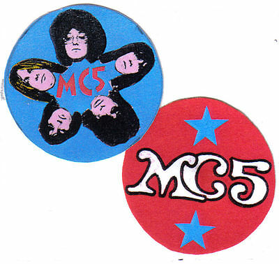 2 MC5  BADGES. 60's rock, Stooges, punk.