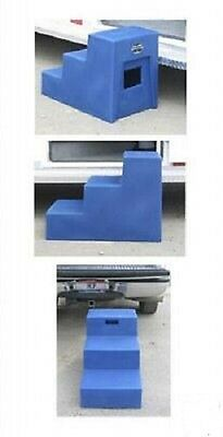 3 Step Horse Mounting block with large Grooming Storage HCP High Country Plastic