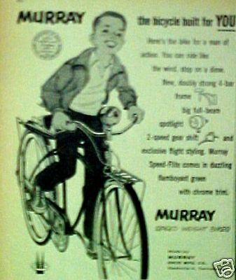 1958 Murray (SPEED-WEIGHT) Boys Bicycles,Bikes Vintage Transportation Print AD