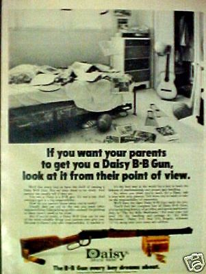 Daisy B B Gun Western Air Rifle Marksman~1973~Toy AD