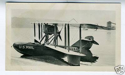 1930 Photo U.S. Mail Delivery Plane N-ABNA in Water (2)