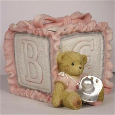 Cherished Teddies Baby Girl Bank 114240