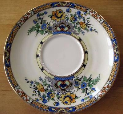 ROYAL BAYREUTH Blue Yellow Floral Flowers Saucer