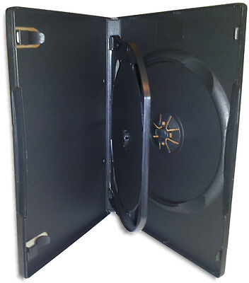 DOUBLE-DISC DVD Box with Hinged Flap & Insert Clips 100-Pak