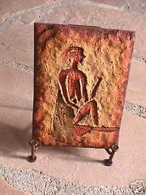 Cave Art  Petroglyph Pictograph 6 x 8  with holder