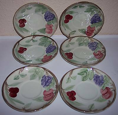 FRANCISCAN POTTERY BOUNTIFUL SET/6 SAUCERS!