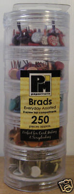 Do Crafts Papermania Everyday Brads Tower- 250 Assorted