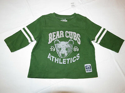 Boys The Childrens Place 6-9 mos football shirt NWT youth baby green NWT