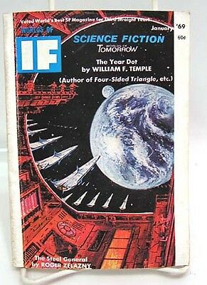 Jan 1969 WORLDS OF IF SCIENCE FICTION Pulp Magazine