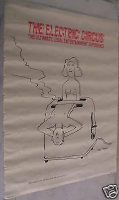 The Electric Circus Vintage Poster Tomi Ungerer Man & Woman Toaster Toast Bread