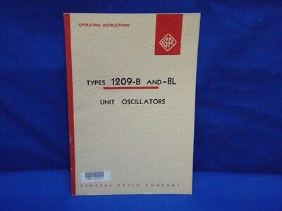 General Radio GENRAD Type 1209-B -BL Instruction Manual