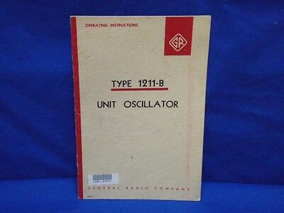 General Radio GENRAD Type 1211-B Instruction Manual