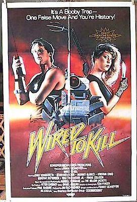 1987 Wired to Kill Orig 1-Sheet Movie Poster-Longstreth- Folded (MHPO-106)