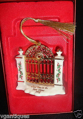 LENOX 2008 1st YEAR IN OUR NEW HOME GATE ORNAMENT NEW IN BOX