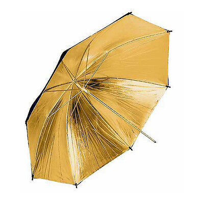 Gold Black Professional Studio Umbrella 109 cm 43""