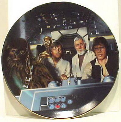 Vintage Star Wars Crew in Cockpit  Ceramic Plate- FIRST SERIES!  Mint Boxed